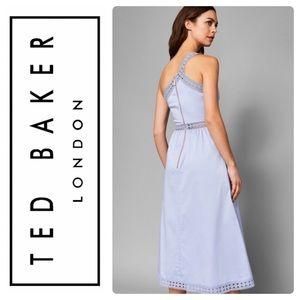 Ted Baker Dresses - New Ted Baker KALLII Asymmetric Cotton Dress Blue